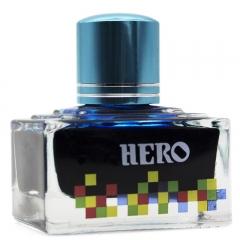 英雄(HERO)钢笔/签字笔钢笔墨水 非碳素染料型彩色墨水系列 7101彩墨天蓝色