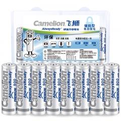 飞狮(Camelion)低自放镍氢充电电池 7号/七号/AAA 900毫安时 8节 鼠标/键盘/遥控器/手电筒