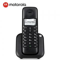 摩托罗拉(Motorola)数字无绳电话机 无线座机 单机 大屏幕白色背光 清晰免提  办公家用 T301C(黑色)