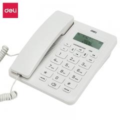 得力(deli)电话机座机 固定电话 办公家用 来去电查询 可接分机 13606白