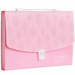 得力(deli)A4/13格彩色时尚便携风琴包/资料包/文件包/试卷袋 颜色随机