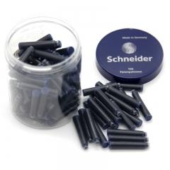 施耐德(Schneider)钢笔墨囊德国进口墨水胆欧标钢笔适用 蓝黑色100支装6823