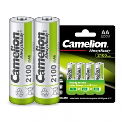 飞狮(Camelion)低自放镍氢充电电池高容量 5号/五号/AA 2100毫安时4节 鼠标/麦克风/剃须刀