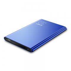 忆捷(EAGET)1TB Type-c USB3.1移动硬盘G70 2.5英寸9.9毫米超薄全金属蓝色