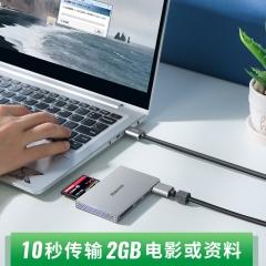 绿巨能(llano)USB3.0读卡器 多功能五合一高速读卡 多盘符读卡器 支持SD/TF/CF/MS/M2存储卡等 CC1016