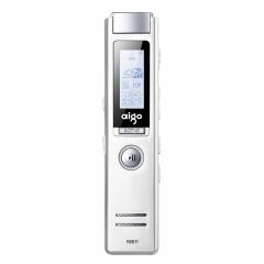 爱国者(aigo)录音笔 R6611 16G 微型 专业 高清远距降噪 MP3播放器 学习/会议采访留证 白色