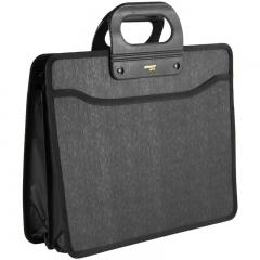 金得利 HB713 A4商务手提袋公事包 办公文件包 黑
