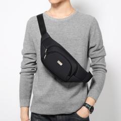 高尔夫GOLF休闲运动腰包锦纶胸包时尚男士单肩斜挎包D7BV73951J黑色