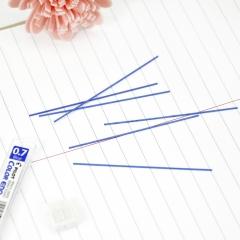 日本百乐(PILOT)彩色活动铅笔芯/自动铅芯 0.7mm蓝色 6根装 PLCR-7-L原装进口