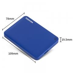 东芝(TOSHIBA) 4TB USB3.0 移动硬盘 V9系列 2.5英寸 兼容Mac 超大容量 密码保护 轻松备份 高速传输 神秘蓝