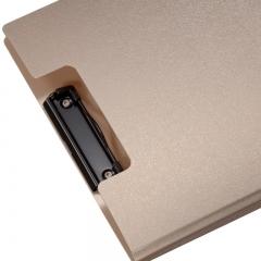 齐心(Comix) A723 美石系双折式书写板夹A4 土豪金