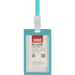 优和(UHOO)工牌证件卡套竖式胸牌厂牌卡套 6卡套+6挂绳/浅蓝 6612