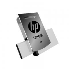 惠普(HP)128GB Type-C USB3.1 U盘 x5000m 银色 高速读写双接口手机电脑两用优盘