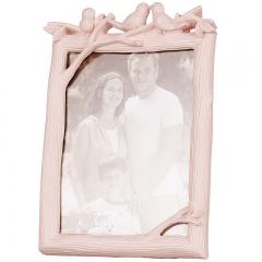 花间集 相框 鸟之语相框婚纱照相框影楼摆台创意礼品7寸竖款 活力粉