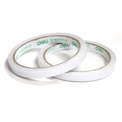得力(deli)高粘性棉纸双面胶带 9mm*10y(9.1m/卷) 32卷袋装 办公用品 30400