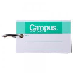 日本国誉(KOKUYO)Campus随身便携式PP封面 空白记英语单词卡随身本 115页/90mm*45mm 3本装 TAN-131