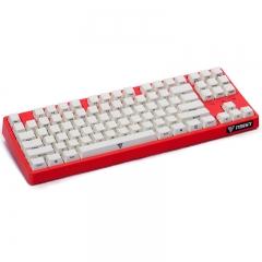 影级(iNSIST)Designer 87键侧刻机械键盘 Cherry樱桃红轴 游戏键盘 吃鸡键盘 西瓜红 电脑键盘笔记本键盘