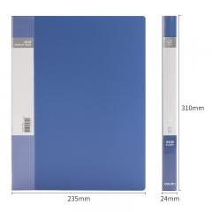 得力(deli)A4/40页资料册 文件活页收纳册 插袋档案文件夹 办公用品5104