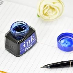 日本百乐(PILOT)非碳素墨水 不堵笔钢笔墨水30ml 蓝色INK-30-L原装进口
