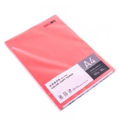 得力(DeLi) 彩色复印纸红色 7758 A4 80G 5包/箱 100页/包