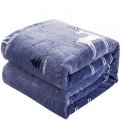 南极人 毛毯家纺 加厚云貂绒毛毯 空调毯子毛巾被 办公室午睡四季盖毯 麋鹿 100*140cm