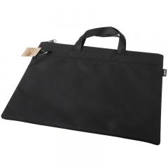 得力(deli)双层事务包拉链袋 手提商务会议包 文件资料收纳包 5840黑色