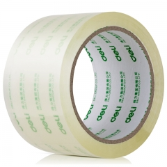 得力(deli)高品质高透明封箱胶带打包胶带 60mm*60y*50um(54.9m/卷) 6卷/筒 办公用品 30323