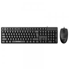 优派(ViewSonic) CU1250静音版 键鼠套装 有线键鼠套装 办公键鼠套装 静音 防泼溅 电脑键盘 黑色