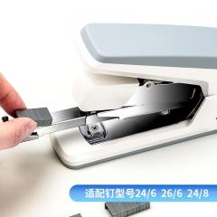 得力(deli)省力型订书机/订书器 适配24/6,26/6及24/8订书钉 办公用品 白色0371