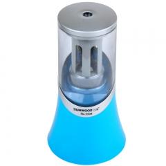 三木(SUNWOOD) 电动削笔器/铅笔刀/合金钢滚刀卷笔机 蓝色 5938