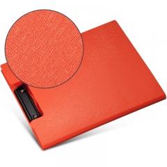 齐心(Comix) A723 美石系双折式书写板夹A4 橘红