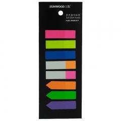 三木(SUNWOOD) 荧光指示标签/便签纸 套装 4袋随机 96647