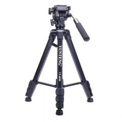 云腾(YUNTENG) VT-6008 精品专业三脚架云台套装 微单数码单反相机摄像机旅行用 优质铝合金便携三角架黑色