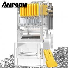 安普康(AMPCOM)超五类水晶头 纯铜50U镀金 100个装 RJ45工程级网络线缆8P8C网线接头 AMCAT5E50100