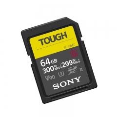索尼(SONY)SF-G64T/T1 SF-G 系列64g TOUGH规格SD卡读取300MB/S写入299MB/S