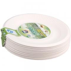 洁能 6寸一次性纸碟(40只装) 可降解 防水防油 适用微波炉 JN-0174