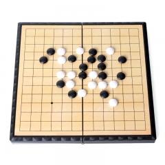 先行者围棋磁性折叠围棋F-6 学习棋小号便携式(白子60粒 黑子61粒)