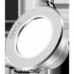 欧普照明(OPPLE)led筒灯3W超薄桶灯客厅吊顶天花灯过道嵌入式孔灯牛眼灯 暖白光砂银开孔7-8厘米【铝材款】