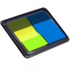 齐心(Comix)D7008EC 荧光膜指示标签/便签条/便利贴/百事贴(44x30mm)20张*2色 3个装
