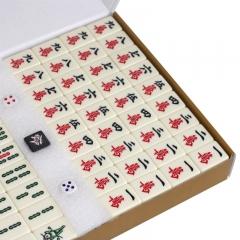尚客诚品麻将牌 42mm象牙色麻将牌 特大号 一体成型麻将 色泽温润