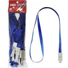 优和(UHOO)证件卡套挂绳商务工作卡绳 胸卡吊绳工作证件员工牌 深蓝12根/包 6712