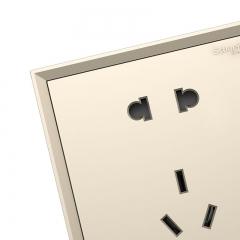 施耐德电气(Schneider Electric)开关插座 插座面板 10A五孔插座 皓朗系列 格调金色C2E426_10US_WG