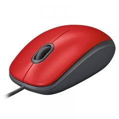罗技(Logitech)M110 鼠标 有线鼠标 办公鼠标 静音鼠标 对称鼠标 红色