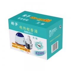 枪手 电热蚊香液套装 有导线 无味 1器+1液 拖线式 无香型 驱蚊液 电蚊香