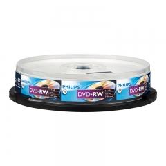 飞利浦(PHILIPS)PH DVD-RW  可擦写空白刻录光盘光碟 可重复刻录 10片装DVD刻录盘