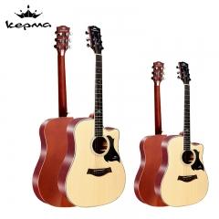 卡马(KEPMA)D1CNM民谣吉他初学者木吉他入门吉它jita原木色41英寸