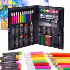 乐缔儿童绘画画笔108件套装礼盒 画画工具 画笔蜡笔水彩笔 小学生美术用品彩色笔礼品儿童礼物