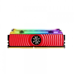 威刚(ADATA)  DDR4 4133 16GB(8GBx2)套装 台式机内存 XPG-龙耀D80 RGB液冷灯条