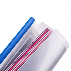 得力(deli)10只A4彩色透明拉杆夹 抽杆资料夹文件夹简历夹 4色装27029