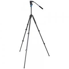 百诺(Benro)A1573FS2 铝合金三角架摄像摄影液压三脚架云台套装